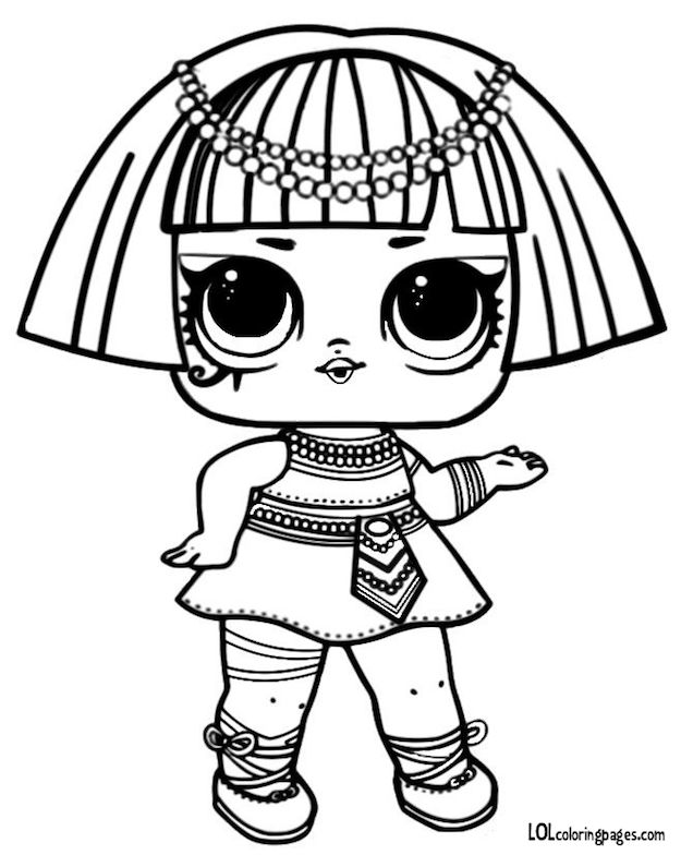 Pharaoh Series 3 LOL Surprise Doll Coloring Page