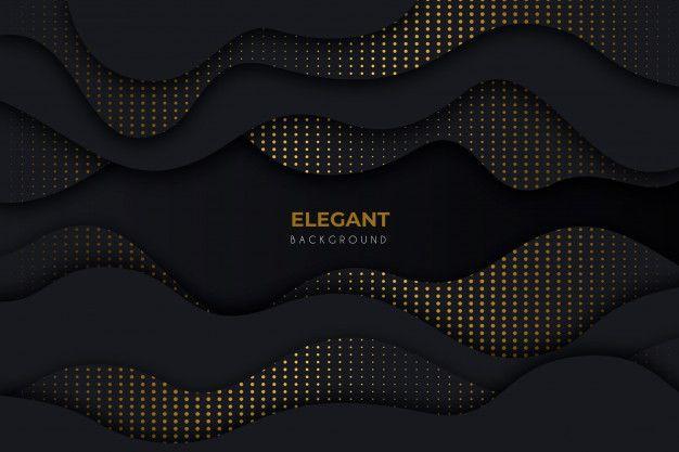 Download Elegant Dark Background With Golden Details For Free In 2020 Dark Backgrounds Vector Free Elegant