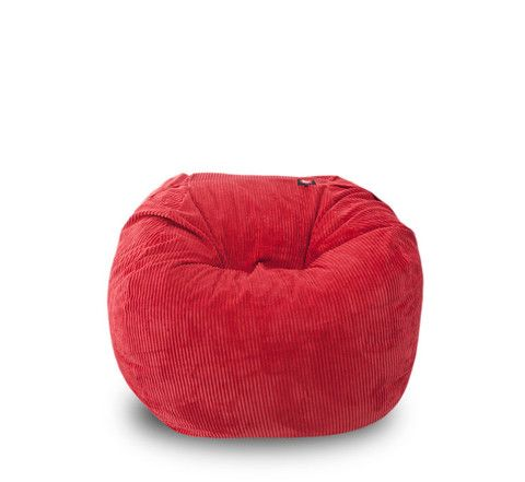 Corduroy Adult-Size Red Beanbag – TheBeanBag