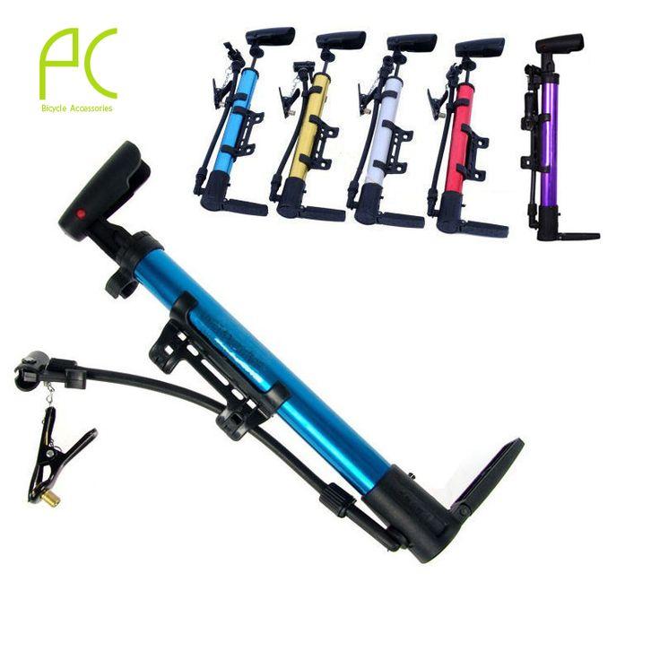 PCycling 다기능 휴대용 자전거 자전거 자전거 미니 공기 펌프 타이어 타이어 알루미늄 합금 자전거 고압 펌프
