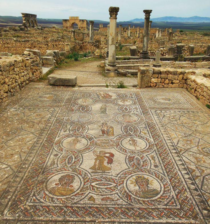 marokko volubilisehem röm garnisonsstadt mosaik