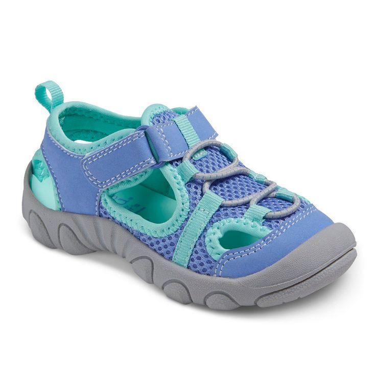 Toddler Girls' Just One You Caden Footbed Sandals - Blue 9, Toddler Girl's