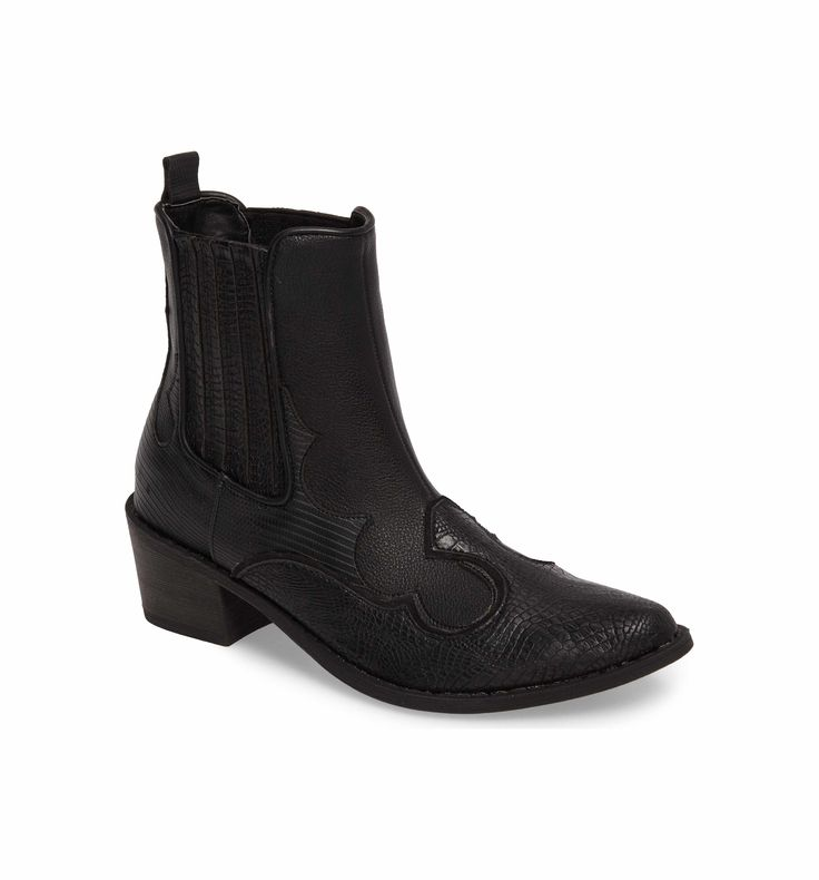 Coconuts by Matisse Cavalier Boot (Women); Textured faux leather and classic stitching define a Western boot fitted with elastic-gore insets at each side for easy on and off.  Nordstrom
