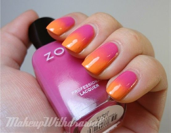 Ahhh!!! I want to be able to do this! - Click image to find more hot Pinterest pins: Colors Charts, Nails Art, Sunsets Nails, Nailart, Gradient Nails, Nails Polish, Summer Colors, Hair, Tropical Gradient