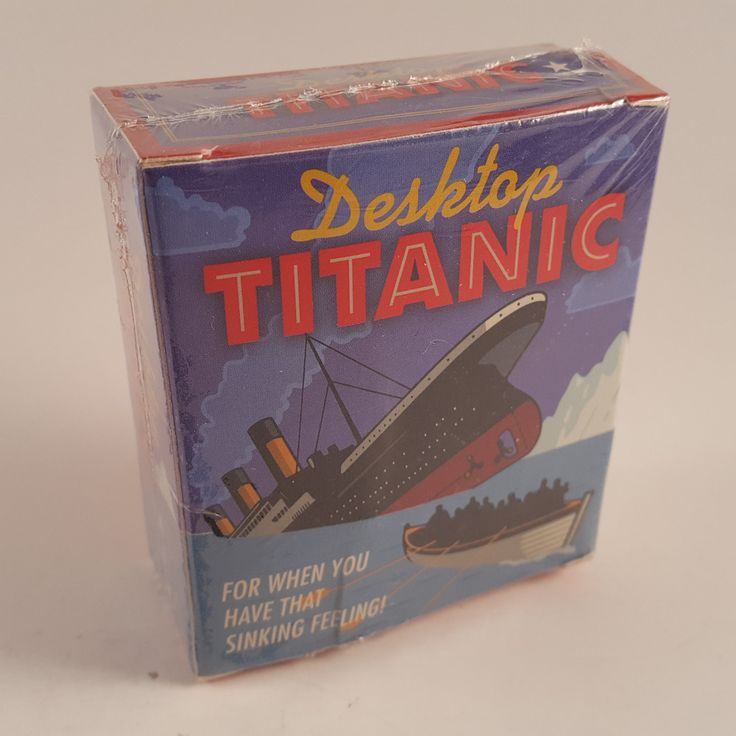 Desktop Titanic: For When You Have that Sinking Feeling -New Sealed - FREE SHIP!