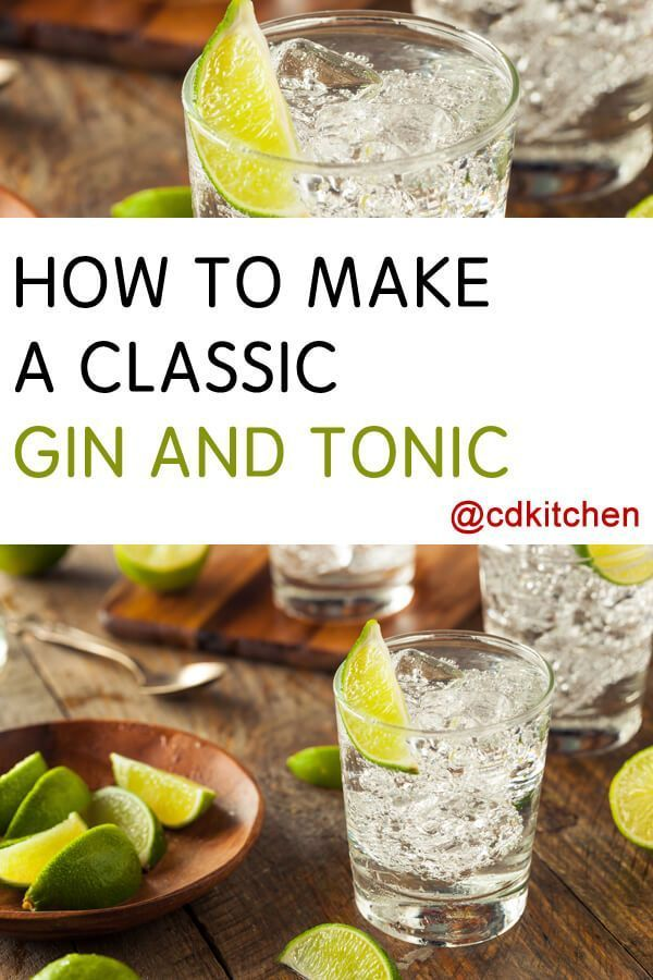 Made with lime, tonic water, gin | CDKitchen.com