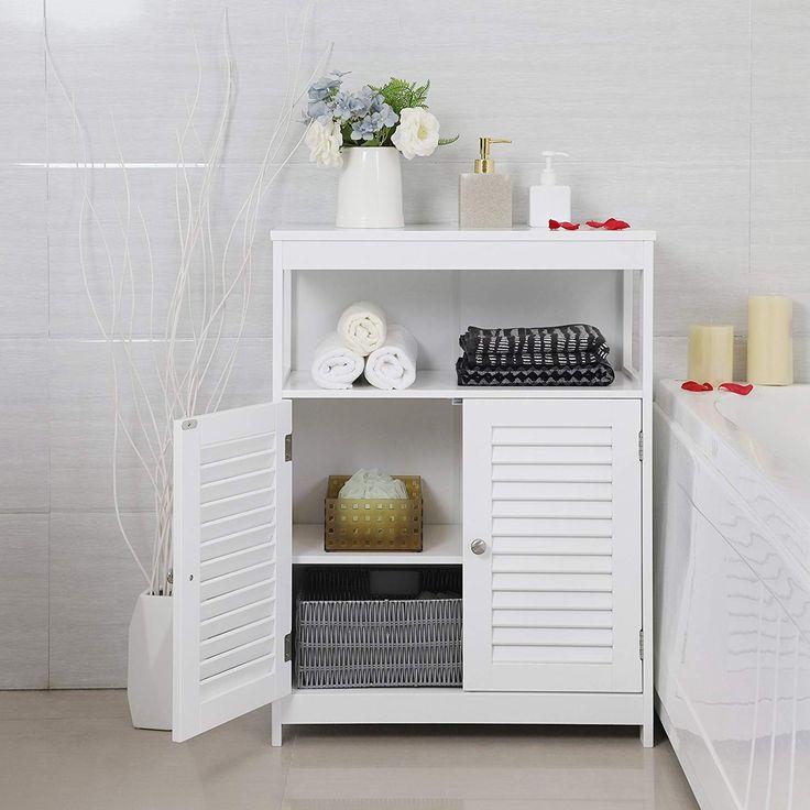 VASAGLE Bathroom Storage Floor Free