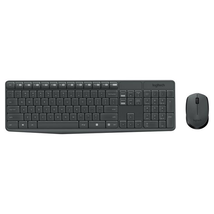logitech mk235 wireless keyboard and mouse set black 920 007897 products keyboard. Black Bedroom Furniture Sets. Home Design Ideas