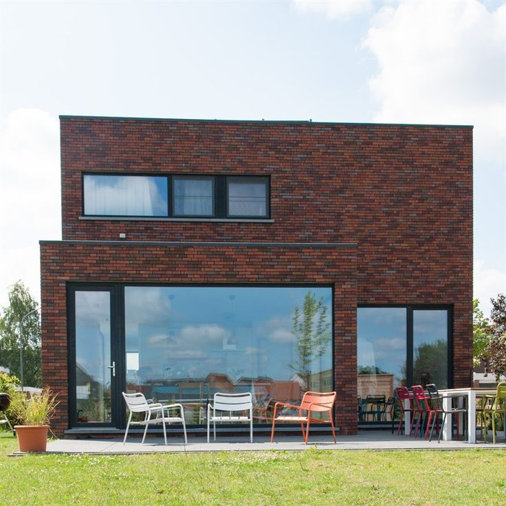 Raam met achterdeur huis bouwen pinterest met and van for Terras modern huis