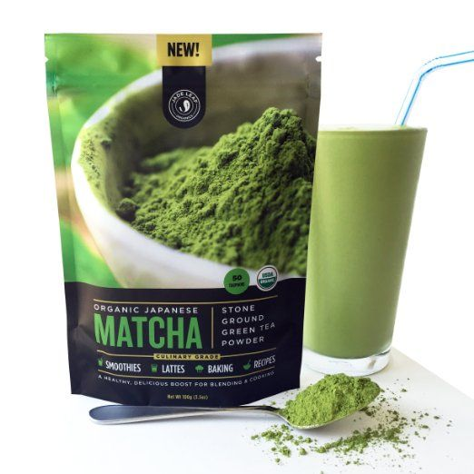 Jade Leaf - Organic Japanese Matcha Green Tea Powder, Culinary Grade (For Blending & Baking) - [100g Value Size]