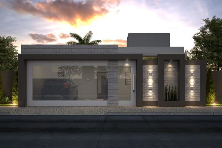 Planta de casa térrea com 3 suítes - Projetos de Casas, Modelos de Casas e Fachadas de Casas