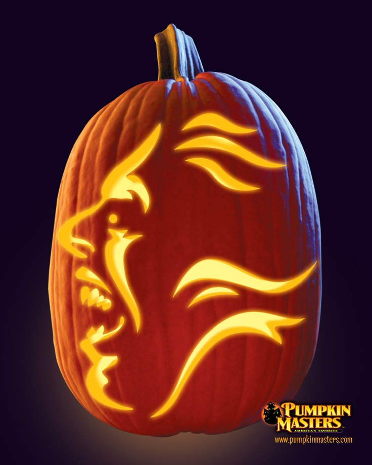 "Scary Pumpkin Carving Patterns: ""Flying Phantom"" Pattern From The Pumpkin Masters Pumpkin"