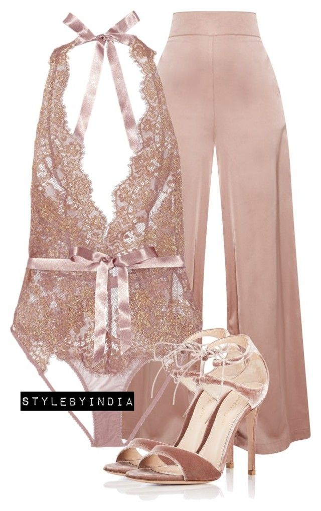 Untitled #1630 by stylebyindia on Polyvore featuring polyvore, fashion, style, L'Agent By Agent Provocateur, Gianvito Rossi and clothing