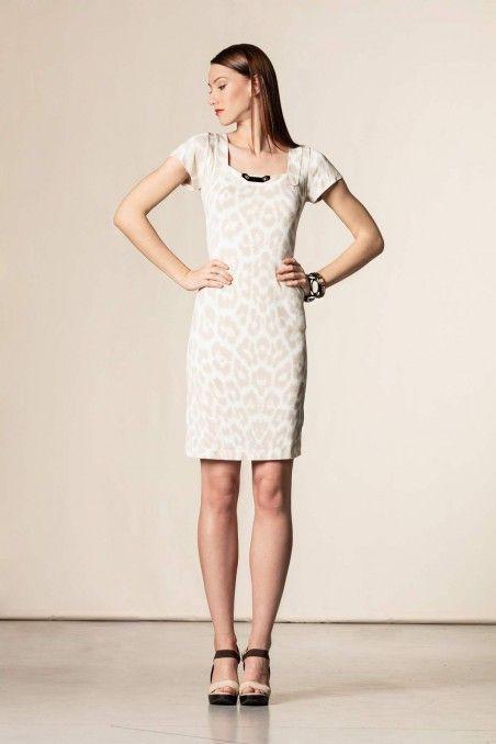 Vestito stampa animalier bianco/beige | ∙ ɖяєɑო ...