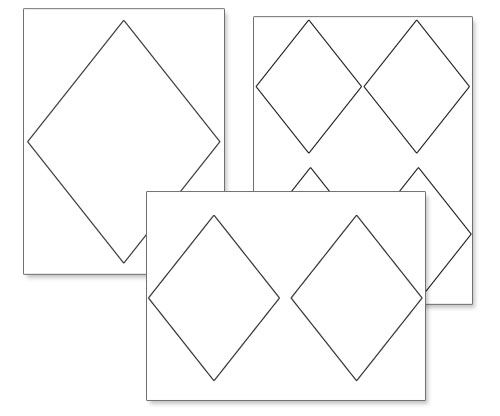 Printable Diamond Shapes From PrintableTreats.com
