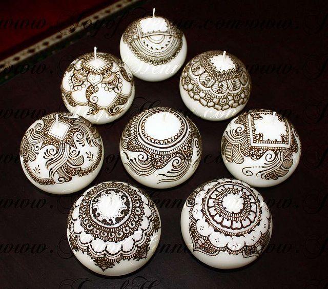 Henna candles by Joy of Henna by Joy of Henna, via Flickr