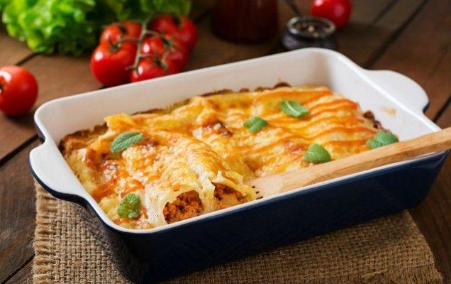 Κανελόνια με κιμά κοτόπουλου και τυρί - iCookGreek