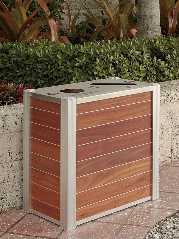 attractive trash + recycling bins by deep stream designs