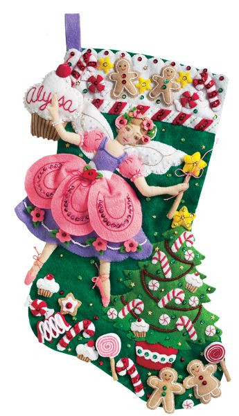 Sugar Plum Fairy Bucilla Stocking Kit