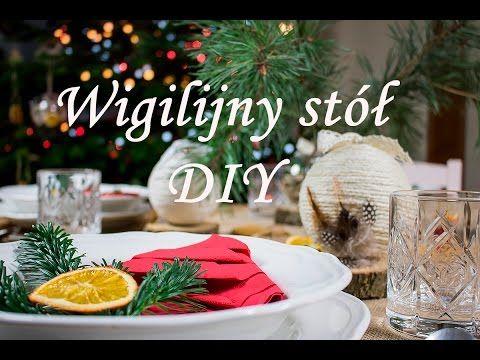Jak udekorować wigilijny stół? Pomysł na świąteczne nakrycie stołu #DIY ...