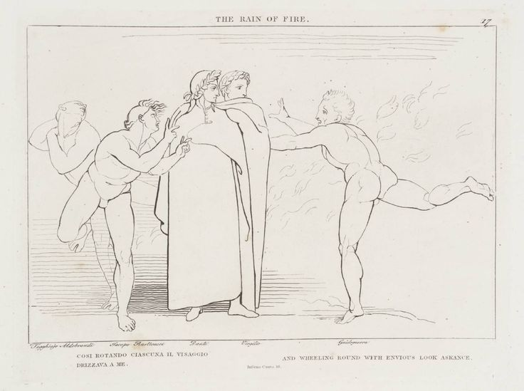 After John Flaxman, 'The Rain of Fire' 1807