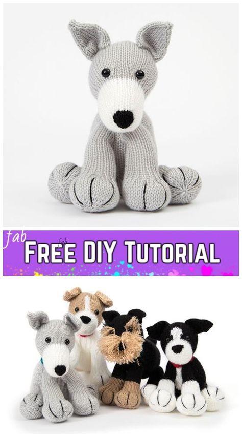 Knit Amigurumi Dog Toy Sofites Free Knitting Patterns | tejidos ...