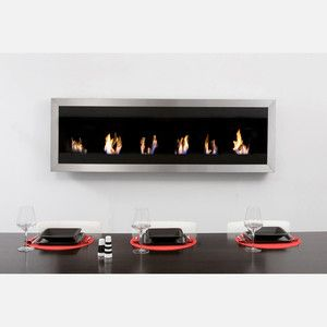 """Square Flame Fireplace 68"""" Steel, $2,250, now featured on Fab."""