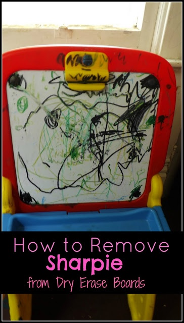 how to remove sharpie from dry erase boards
