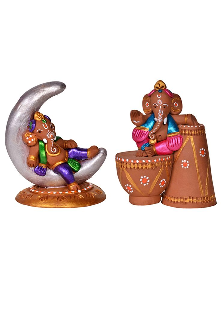 Bring #home good vibe with these beautifully #handcrafted and #terracotta hand painted baby #ganesha idols.