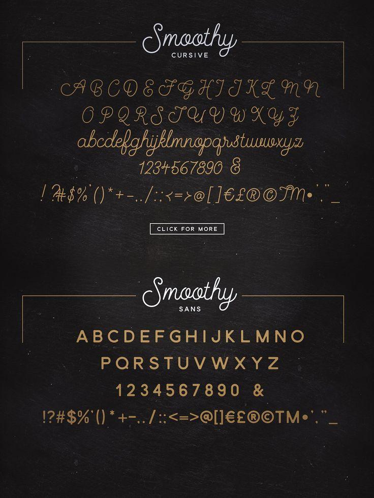 cursive fonts for wedding cards%0A Smoothy  Cursive Script  u     Sans by Ian Barnard on  creativemarket