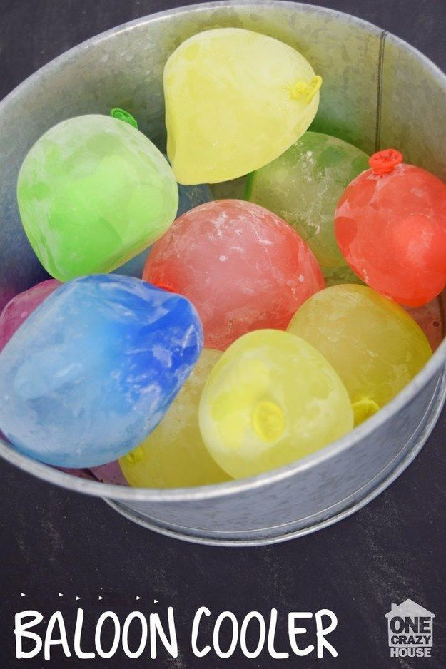 Fill your cooler with frozen balloons to prevent a meltdown. | 29 Summer Parenting Hacks That Are Borderline Genius