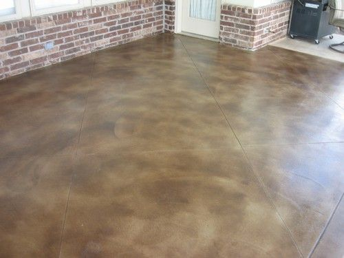Outdoor Stained Concrete Patio | Acid Stained Concrete   Patio (Black 15:1)