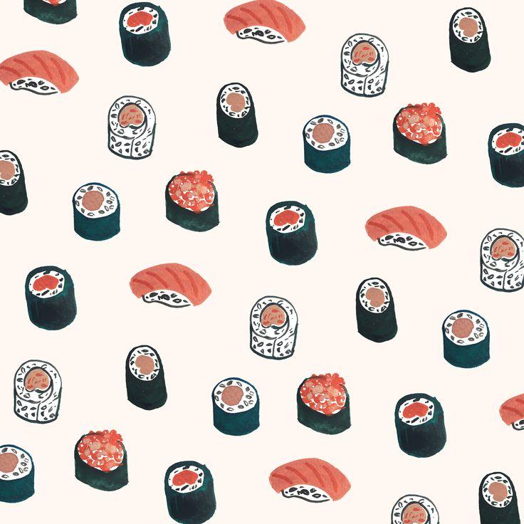 Sushi pattern by Sara Combs