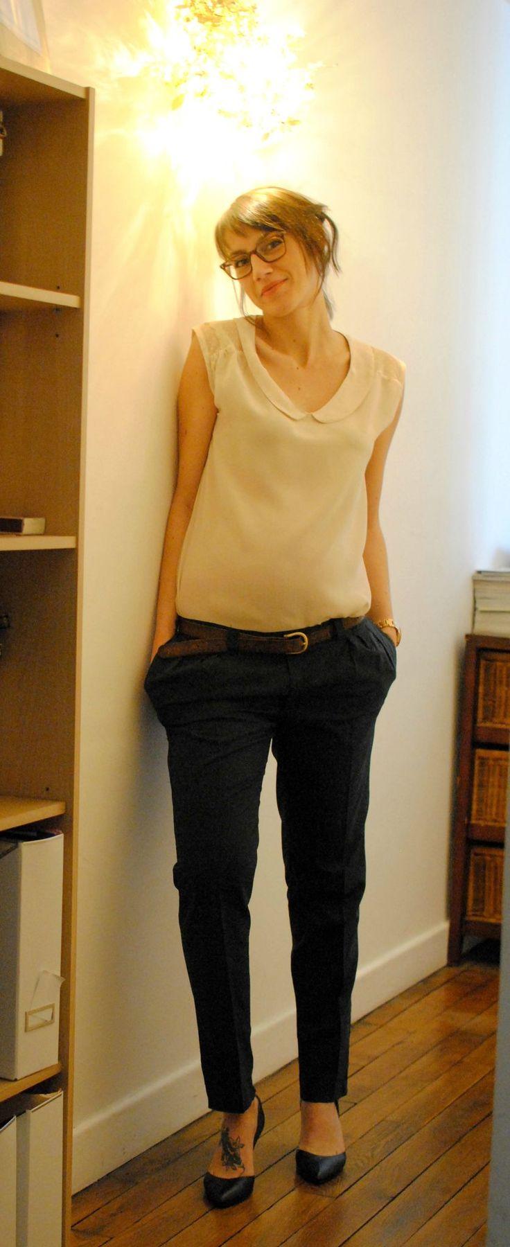Airelle plumetis et soie Grossesse + pantalon burda