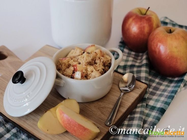 Cous cous con mele, mandorle e pollo  #ricette #food #recipes