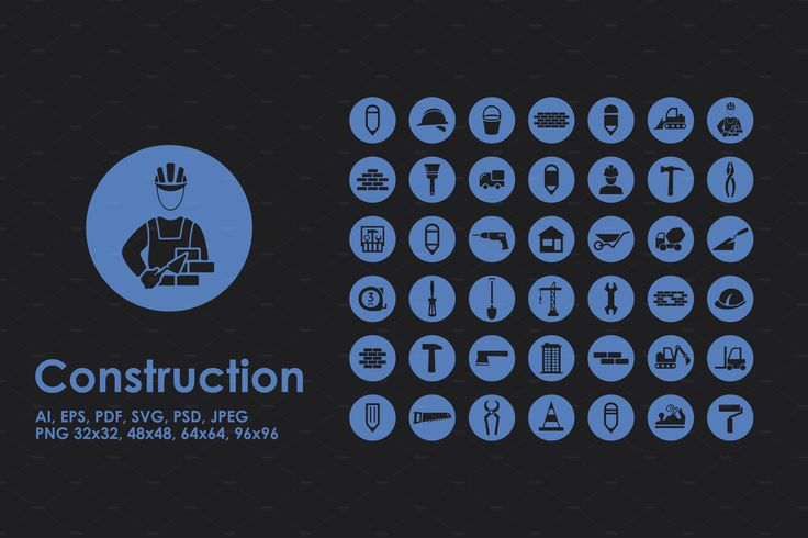 Construction icons by Palau on @creativemarket