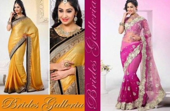 Brides Galleria Party Wear Lehenga Style Sarees 2014 for Girls2