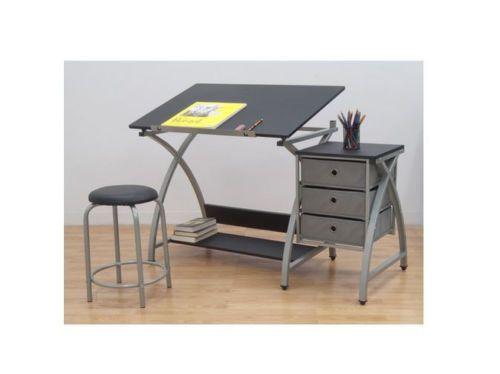 Modern-Drafting-Table-Computer-Art-Desk-Stool-Adjustable-Architect-Work-Station