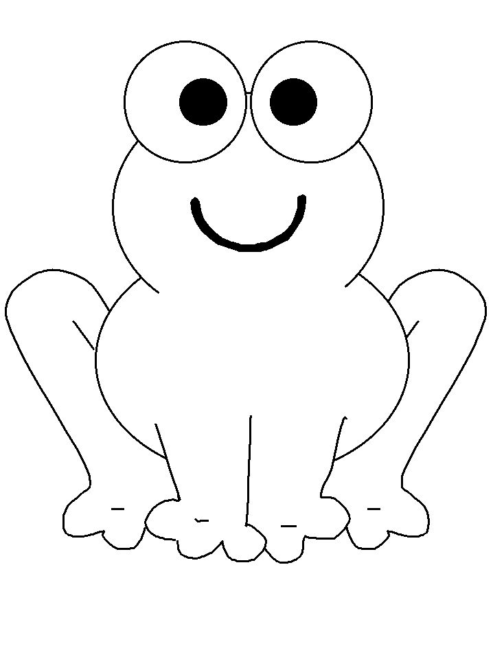 Simple Animal Coloring Pages Frogs 19 Animals Book