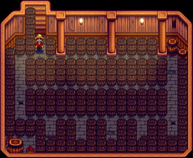 Image result for stardewvalley cellar layout