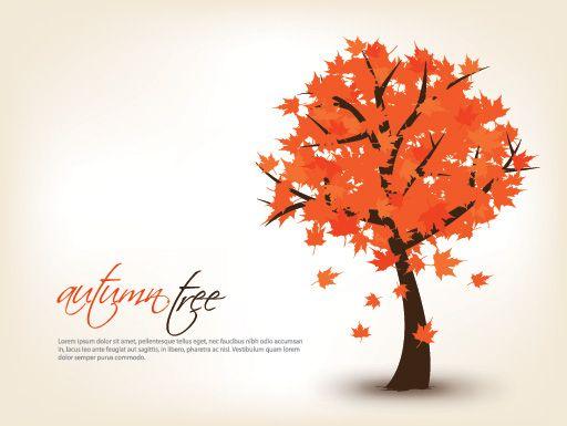 Autumn Tree Vector Graphic