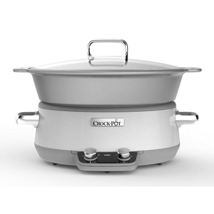 Crock-Pot Slowcooker 6 L Induktion Vit, Crock-Pot, Från 349 kr på Crock-Pot |Kökets Favoriter