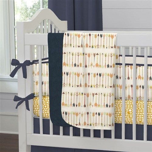 Tribal Arrow Crib Bedding by Carousel Designs.
