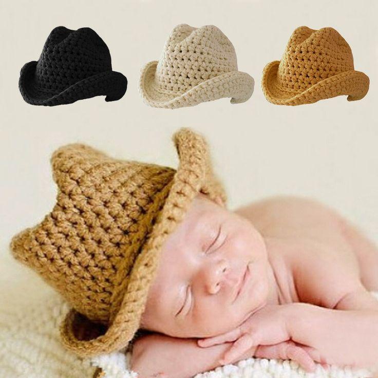 Cute Baby Boy Girl Hat Photography Props Knit Bonnet Newborn Cute Hats for New Born Photo Pros Fedoras FJ88 #Affiliate