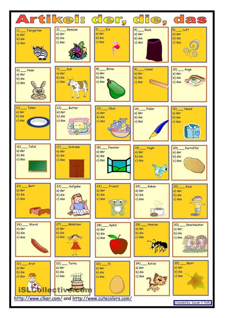 Der Artikel 115 best german artikel und pronomen images on learn