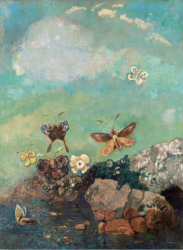 """French Symbolist artist Odilon Redon wrote in his journal in 1903; """"I love nature in all her forms … the humble flower, tree, ground and rocks, up to the majestic peaks of mountains &#…"""