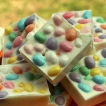 Jellybean Bark: White Chocolates, Easter Candy, Chocolates Bark, Jelly Beans, Great Ideas, Easter Treats, Jellybeans, Jellybean Bark, Easter Ideas