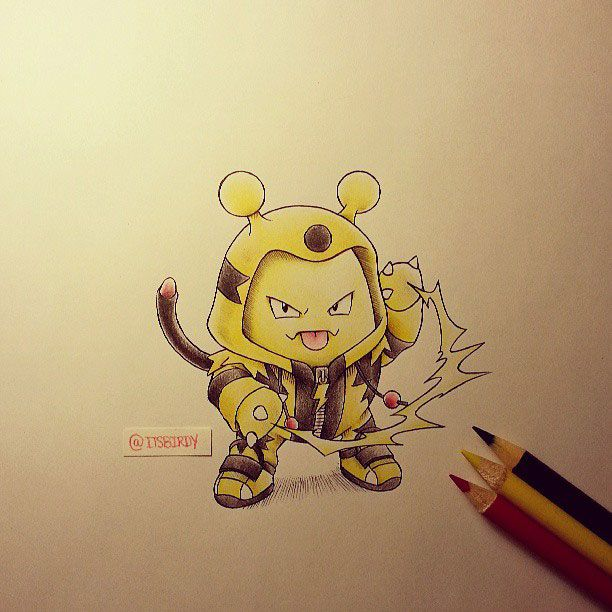 Depuis leur création, les Pokémon inspirent de nombreux illustrateurs pour réaliser de superbes créations. C'est le cas de Birdy Chu qui dessine Pikachu, Salamèche et compagnie déguisés en leurs propres évolutions ! Des dessins carrém...