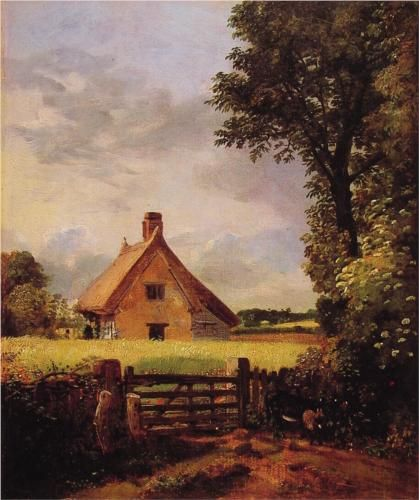 A Cottage in a Cornfield - John Constable, 1817,  National Museum of Wales (Amgueddfa Cymru), Wales, UK