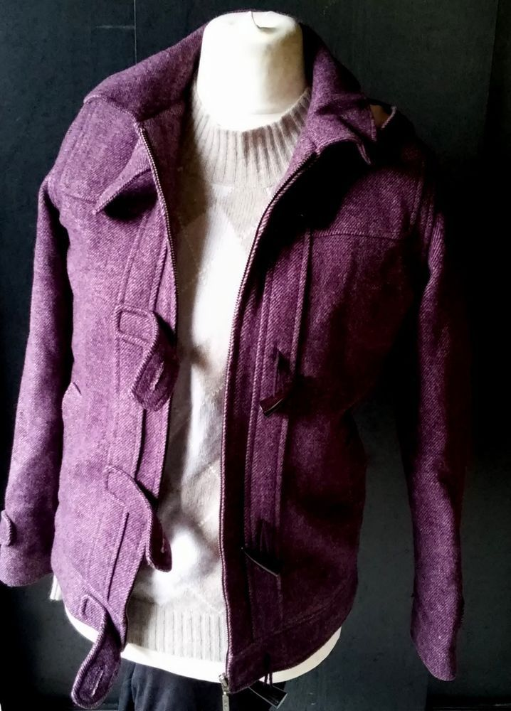 #twitter#tumbrl#instagram#avito#ebay#yandex#facebook #whatsapp#google#fashion#icq#skype#dailymail#avito.ru#nytimes #i_love_ny     BEN SHERMAN  Purple Wool Blend Hooded LS Faux Horn Button Jacket  Coat S #BenSherman #BasicJacket